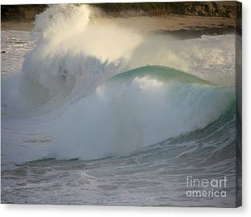 Canvas Print featuring the photograph Heavy Surf At Carmel River Beach by James B Toy