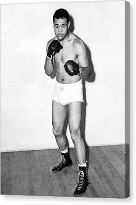 Heavyweight Champion Joe Louis Canvas Print by Underwood Archives