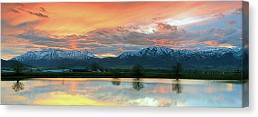 Heber Valley Sunset Canvas Print by Johnny Adolphson