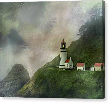 Keeper Canvas Print - Heceta Head Lighthouse Florence Oregon by Diane Schuster