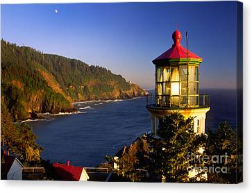 Guides Canvas Print - Heceta Head Moonrise by Inge Johnsson