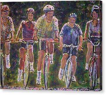 Heck On Wheels Canvas Print by Linda Vaughon