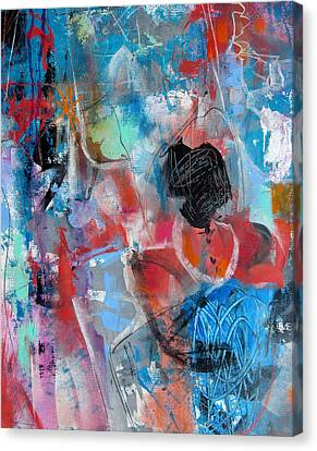 Canvas Print featuring the painting Hectic by Katie Black