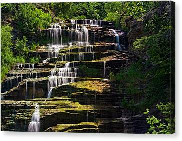 Canvas Print featuring the photograph Hector Falls by Dave Files