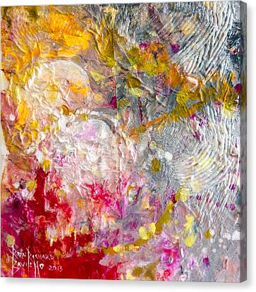 Canvas Print featuring the painting Hedonic by Ron Richard Baviello