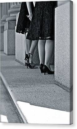Heels And Lace Canvas Print by Linda Bianic