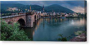 Heidelberg Castle And Old Bridge Canvas Print by Panoramic Images