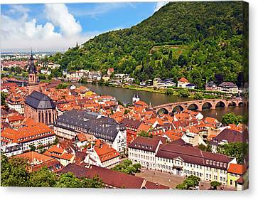 Heidelberg, Germany, A View Of The City Canvas Print by Miva Stock