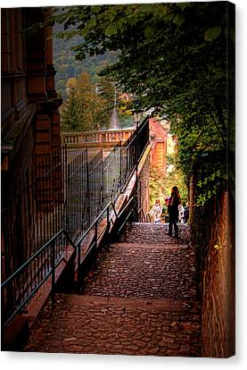 Canvas Print featuring the photograph Heidelberg Stairway by Jim Hill