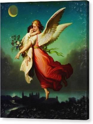 Heiliger Schutzengel  Guardian Angel 10 Pastel Canvas Print by MotionAge Designs