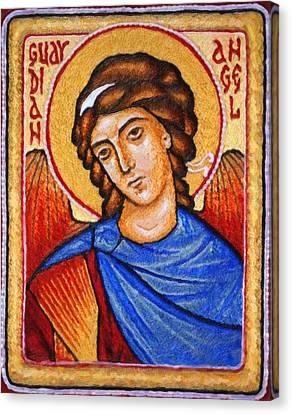 Heiliger Schutzengel  Guardian Angel 5 Enhanced Canvas Print by MotionAge Designs