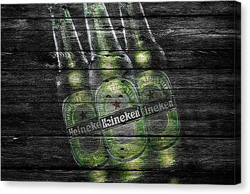 Heineken Bottles Canvas Print by Joe Hamilton