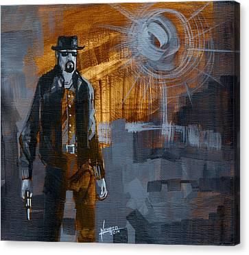 Heisenberg Canvas Print by Luis  Navarro