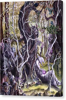 Canvas Print featuring the painting Heist Of The Wizard's Staff 2 by Curtiss Shaffer