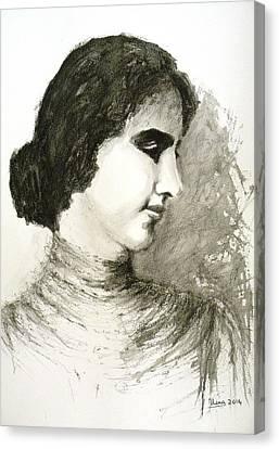 Helen Keller Canvas Print by Uma Krishnamoorthy