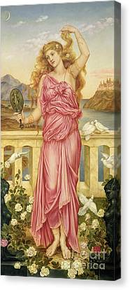 Helen Of Troy Canvas Print by Evelyn De Morgan