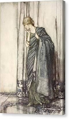 Shakespearean Canvas Print - Helena, Illustration From Midsummer by Arthur Rackham