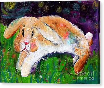 Helen's Birthday Rabbit In Glastonbury Canvas Print