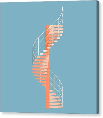 Helical Stairs Canvas Print by Peter Cassidy