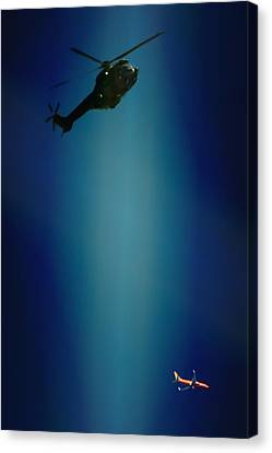 Helicopter Blues Canvas Print by Paul Job