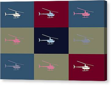 Helicopter  Canvas Print by Tommytechno Sweden