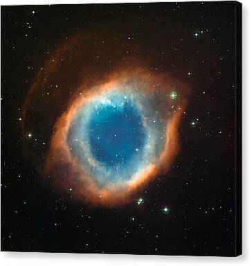 Helix Nebula Canvas Print by Celestial Images