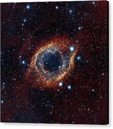 Nebula Canvas Print - Helix Nebula by Eso/vista/j. Emerson. Acknowledgment: Cambridge Astronomical Survey Unit