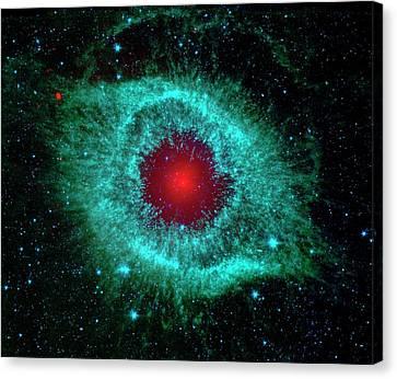 Helix Nebula Canvas Print by Nasa/jpl-caltech/univ.of Ariz.