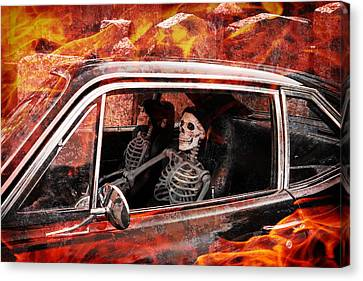 Hell Drive Canvas Print