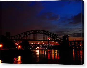 Hell Gate At Night Canvas Print