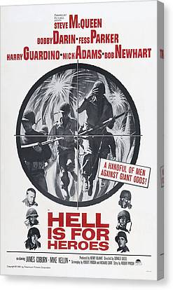 Hell Is For Heroes, Us Poster, Left Canvas Print by Everett