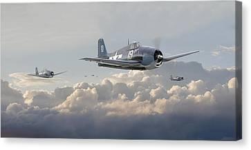Hellcat F6f - Combat Air Patrol Canvas Print by Pat Speirs