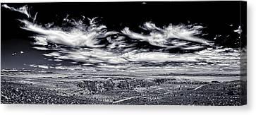 Hellhole Bend - Bw Canvas Print by Chris Bordeleau