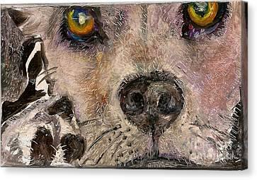 Hello Dog Canvas Print