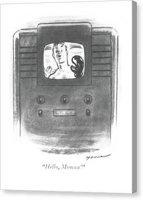 Hello, Momma! Canvas Print by Leonard Dove