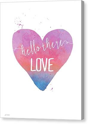 Hello There Love Canvas Print