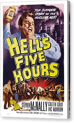 Hells Five Hours, Us Poster, Vic Morrow Canvas Print by Everett