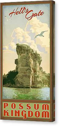 Hell's Gate Possum Kingdom Lake Canvas Print by Jim Sanders