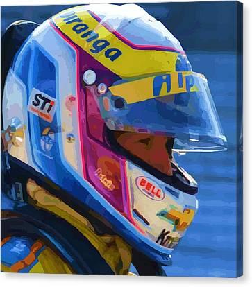 Helmet Of A Female Hero Canvas Print