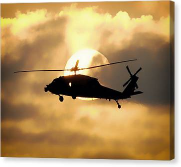 Helo Sunset Canvas Print by Mountain Dreams