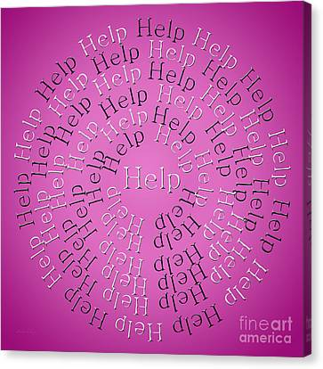 Help 3 Canvas Print by Andee Design
