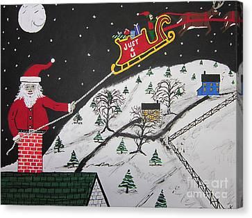 Help Santa's Stuck Canvas Print