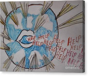 Help The World Canvas Print by Ann Fellows