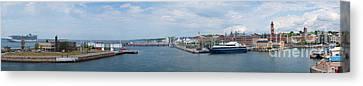 Helsingborg Panorama 01 Canvas Print by Antony McAulay