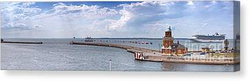 Helsingborg Port Panorama Canvas Print by Antony McAulay