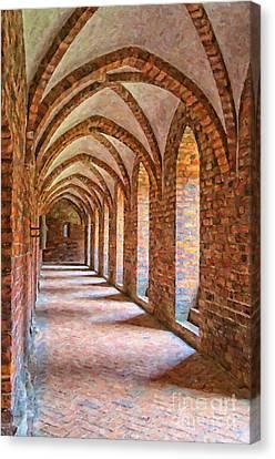 Helsingor Monastery Painting Canvas Print