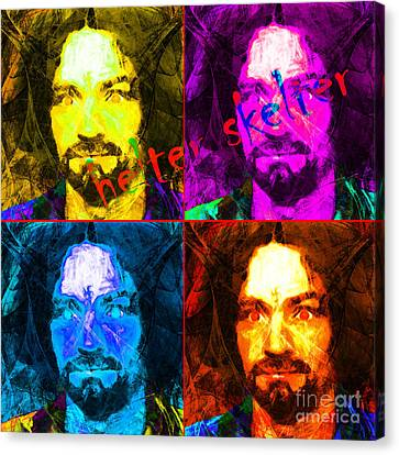 Helter Skelter 20141213 Square Four Canvas Print by Wingsdomain Art and Photography