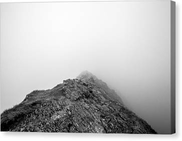 Canvas Print featuring the digital art Helvellyn by Mike Taylor