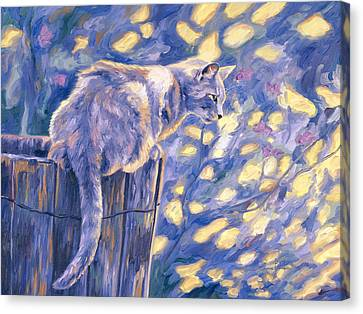 Hemingway Cat Canvas Print by Lucie Bilodeau