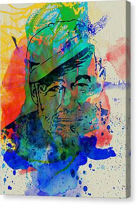 Hemingway Watercolor Canvas Print
